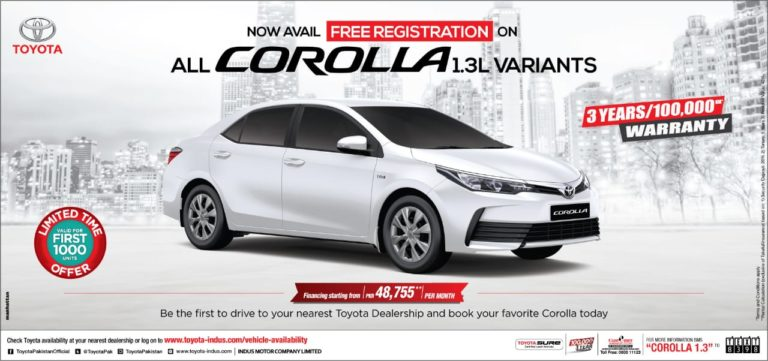 Toyota Offered Discount to its Customers